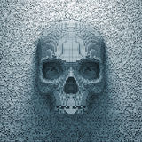 De schedel van het pixel Royalty-vrije Stock Afbeelding