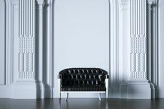 3d geef uitstekende bank in klassieke witte binnenlandse voorclose-up terug royalty-vrije illustratie