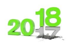 3d geef van aantallen 2017 - 18 over witte achtergrond terug royalty-vrije illustratie