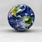 3D geef van aarde terug Royalty-vrije Stock Foto's