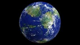 3D geef van Aarde zoals installatie terug in 3D Studio 4 wordt gemaakt die van Daz 9 royalty-vrije illustratie