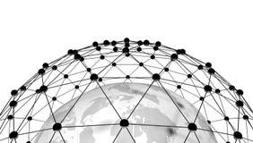 3d geef van abstract netwerk terug Royalty-vrije Stock Afbeelding