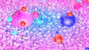 3d geef van abstracte geometrische achtergrond met moderne gradiëntkleuren in lage polystijl terug 3d oppervlakte met aardig blau stock illustratie
