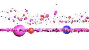 3d geef van abstracte geometrische achtergrond met moderne gradiëntkleuren in lage polystijl terug 3d oppervlakte met aardige gra royalty-vrije illustratie