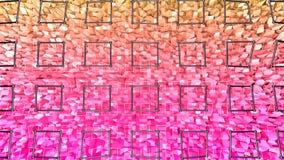 3d geef van abstracte geometrische achtergrond met moderne gradiëntkleuren in lage polystijl terug 3d oppervlakte met aardige sin royalty-vrije illustratie