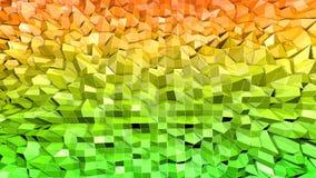 3d geef van abstracte geometrische achtergrond met moderne gradiëntkleuren in lage polystijl terug 3d oppervlakte met aardige sin vector illustratie