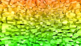 3d geef van abstracte geometrische achtergrond met moderne gradiëntkleuren in lage polystijl terug 3d oppervlakte met aardige sin stock illustratie