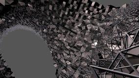3d geef van abstracte geometrische achtergrond met moderne gradiëntkleuren in lage polystijl terug 3d zwart oppervlakte en net 6 vector illustratie