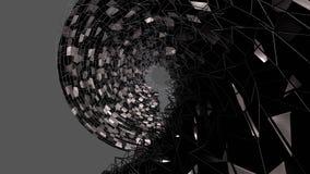 3d geef van abstracte geometrische achtergrond met moderne gradiëntkleuren in lage polystijl terug 3d zwarte oppervlakte en met n royalty-vrije illustratie