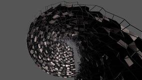 3d geef van abstracte geometrische achtergrond met moderne gradiëntkleuren in lage polystijl terug 3d zwarte oppervlakte en met n stock illustratie