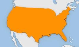 3d geef van abstracte kaart van de Verenigde Staten van Amerika terug Stock Afbeeldingen