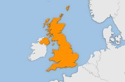3d geef van abstracte kaart van het Verenigd Koninkrijk terug Royalty-vrije Stock Afbeeldingen