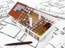 3d geef van architectuurmodel terug Royalty-vrije Stock Foto