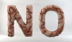3D geef van Brain Alphabet terug royalty-vrije illustratie