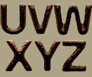 3D geef van Chocoladealfabet terug royalty-vrije stock fotografie