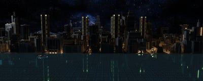 3D geef van de Stad terug vector illustratie