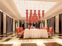 3d geef van dinerruimte terug Royalty-vrije Stock Foto