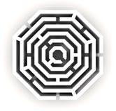 3D geef van een labyrint terug - labyrint Royalty-vrije Stock Afbeelding
