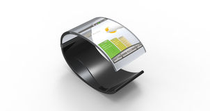 Transparante Mobiele Armband Stock Foto's