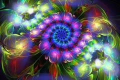 3d geef van fractal terug vector illustratie
