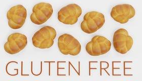 3D geef van Gluten Vrij Voedsel terug Stock Afbeelding