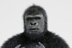 3d geef van Gorilla terug Stock Afbeelding