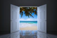 3D geef van het abstracte tropische concept terug Stock Fotografie