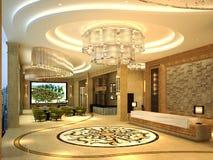 3d geef van hotelgang terug royalty-vrije illustratie