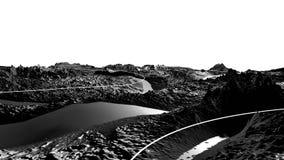 3d geef van kosmisch landschap terug als achtergrond of milieu Planeet van ruimtemening van het zeer gedetailleerde ruimtevaartui stock videobeelden