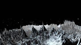 3d geef van kosmisch landschap terug als achtergrond of milieu Planeet van ruimtemening van het zeer gedetailleerde ruimtevaartui stock footage
