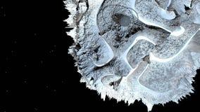 3d geef van kosmisch landschap terug als achtergrond of milieu Planeet van ruimtemening van het zeer gedetailleerde ruimtevaartui vector illustratie