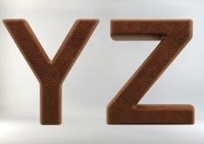 3D geef van Leerbrieven terug stock afbeelding