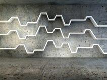 3d geef van minimalistische plank terug Royalty-vrije Stock Afbeelding