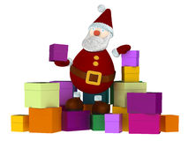 3d geef van Santa Claus terug Royalty-vrije Stock Foto