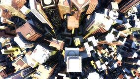 3D geef van stad terug Royalty-vrije Stock Afbeeldingen