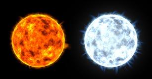 3d geef van twee sterren terug stock illustratie