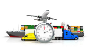 3d geef van verschillend vervoer terug Stock Afbeelding