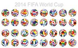 3D geef van 32 voetbalvoetbal terug Stock Foto's