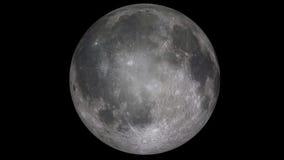 3d geef van Volle maan terug Stock Afbeelding