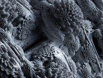 3d geef, vat fractal achtergrond, microbiologische vormen, macroaard, organisch patroon, quantumwereldbehang samen stock illustratie