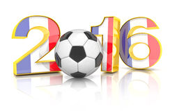 3d geef - voetbal 2016 terug Stock Afbeeldingen