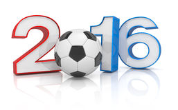 3d geef - voetbal 2016 terug Stock Foto