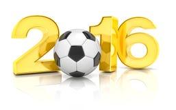 3d geef - voetbal 2016 terug Stock Afbeelding
