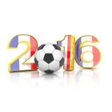 3d geef - voetbal 2016 terug Royalty-vrije Stock Foto's