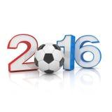 3d geef - voetbal 2016 terug Royalty-vrije Stock Afbeelding