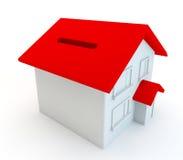 3d geef voor het concept besparing voor een nieuw huis of een huis terug Royalty-vrije Stock Foto's