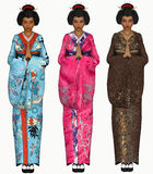 3D geisha illustration Royalty Free Stock Photo