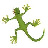 3d gekko lizzard Stock Afbeelding