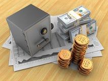 3d geld Stock Afbeelding