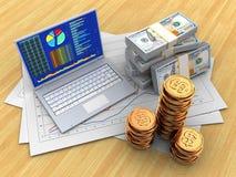 3d geld Royalty-vrije Stock Afbeeldingen